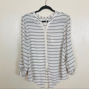 Joie osei striped silk blouse